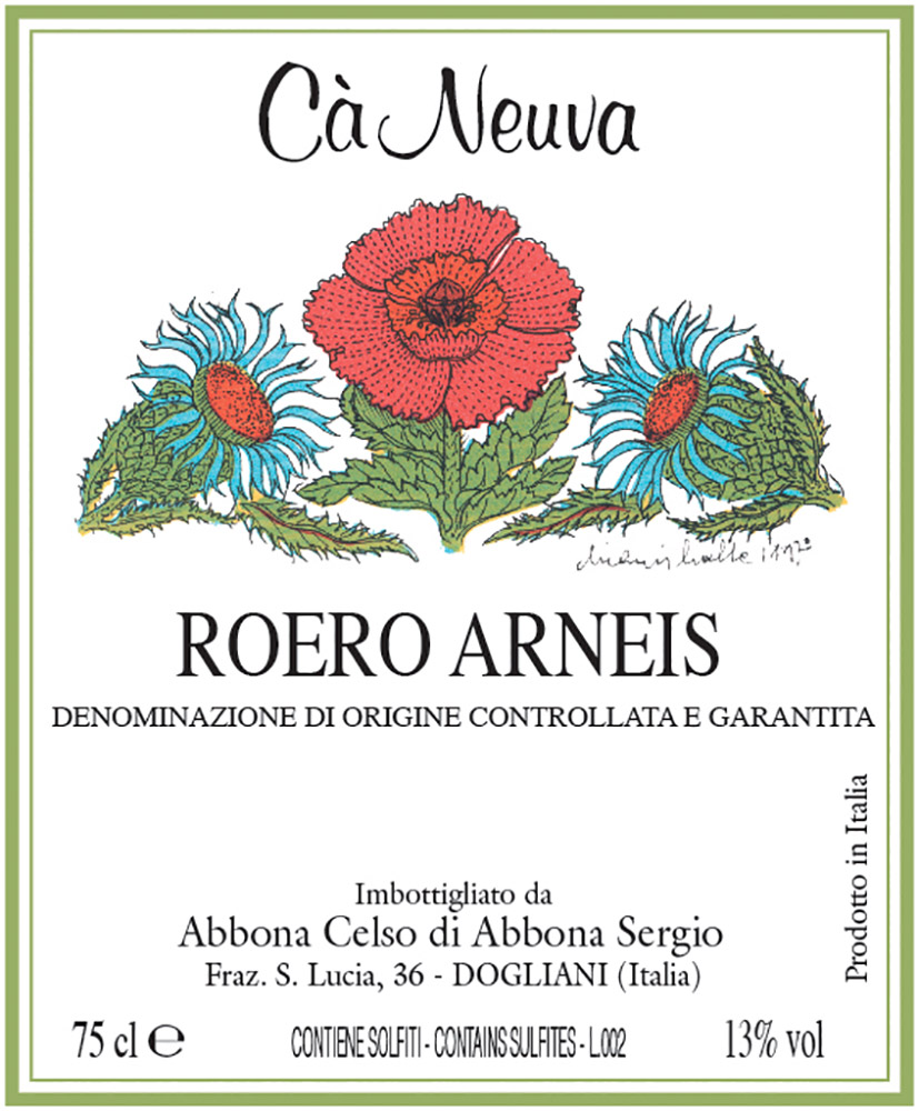 Roero Arneis - etichetta
