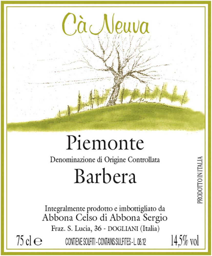 Piemonte Barbera - etichetta