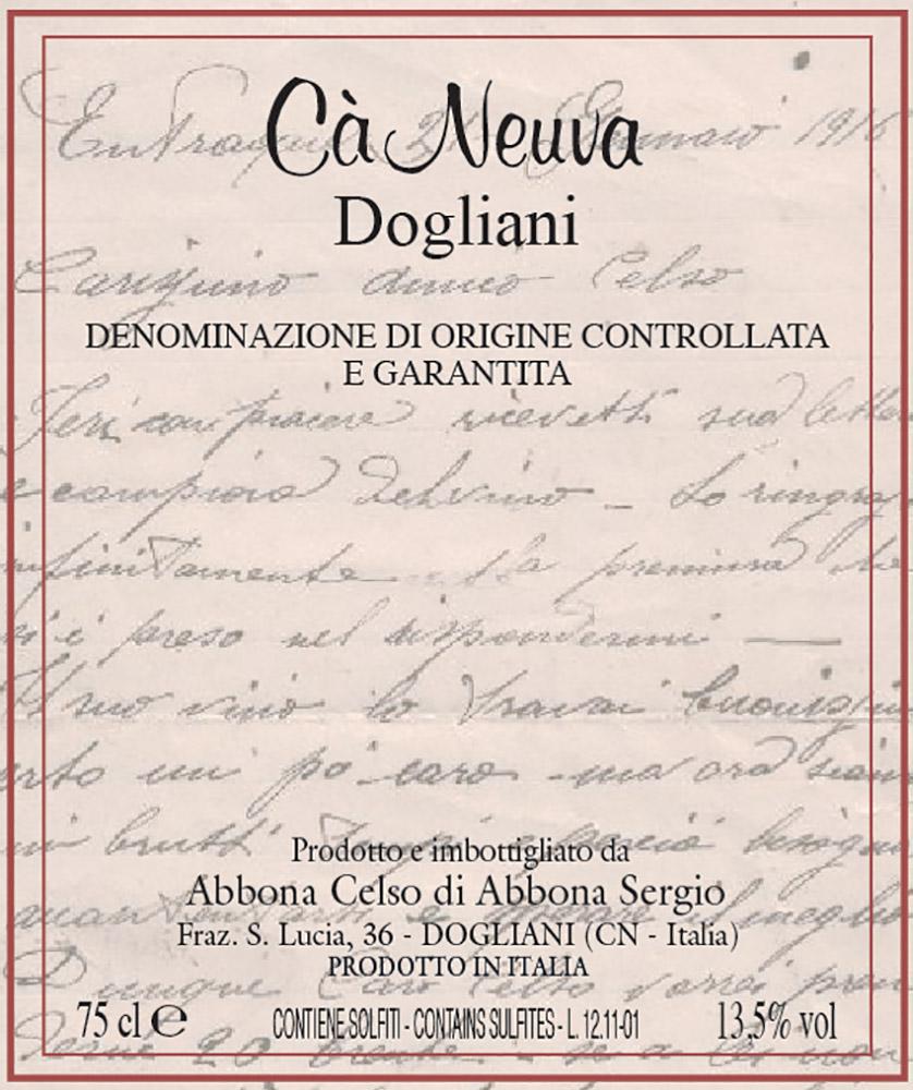 Dogliani Superiore - etichetta