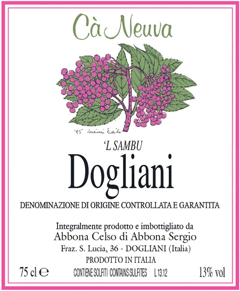 Dogliani 'L Sambu - etichetta